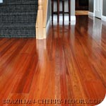 brazilian cherry wood floor