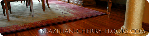 Brazilian Cherry Staybull Flooring™ in a Home